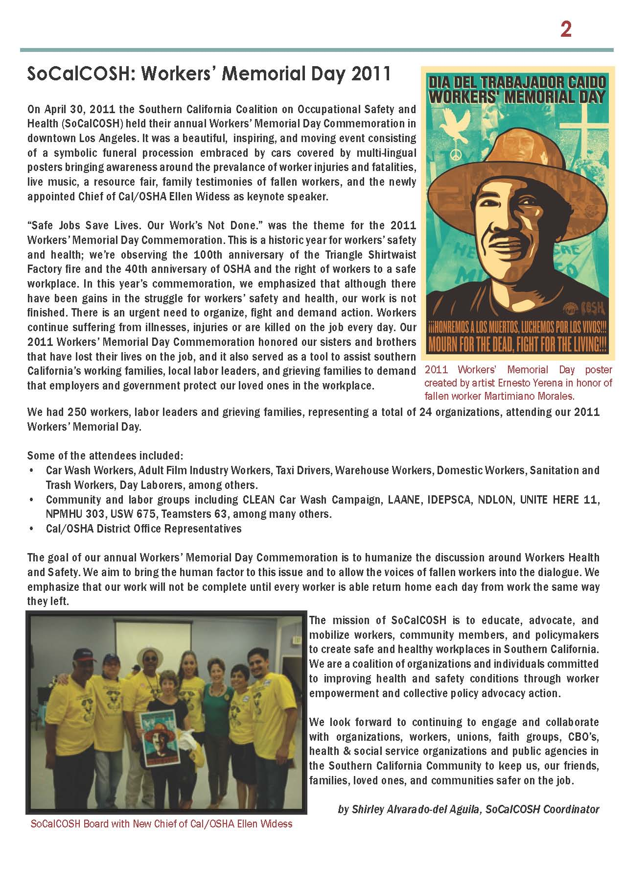 COSH newsletter summer 2011 page 2